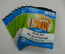 Lot Of 8 Pacon Little Fingers Doodle Pad 9x12 White 8 Packs Of 60 Sheets