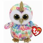 "Ty Beanie Boos 6"" Enchanted The Owl Unicorn Birthday March 25th Gold Horn 3"