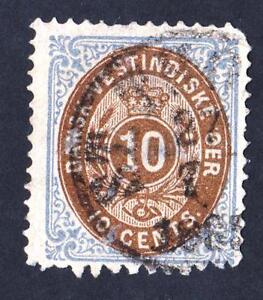 VARIETY-Danish-West-Indies-N-10-USED-ST-THOMAS-CV-35