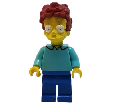 OTTO MANN TV Show Bus Driver Block Minifigure *NEW* Custom Printed Simpsons