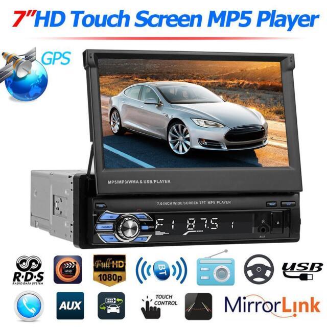 "7"" Autoradio mit GPS NAVI Bluetooth Touchscreen MP5 Player USB TF AUX AM/FM 1DIN"