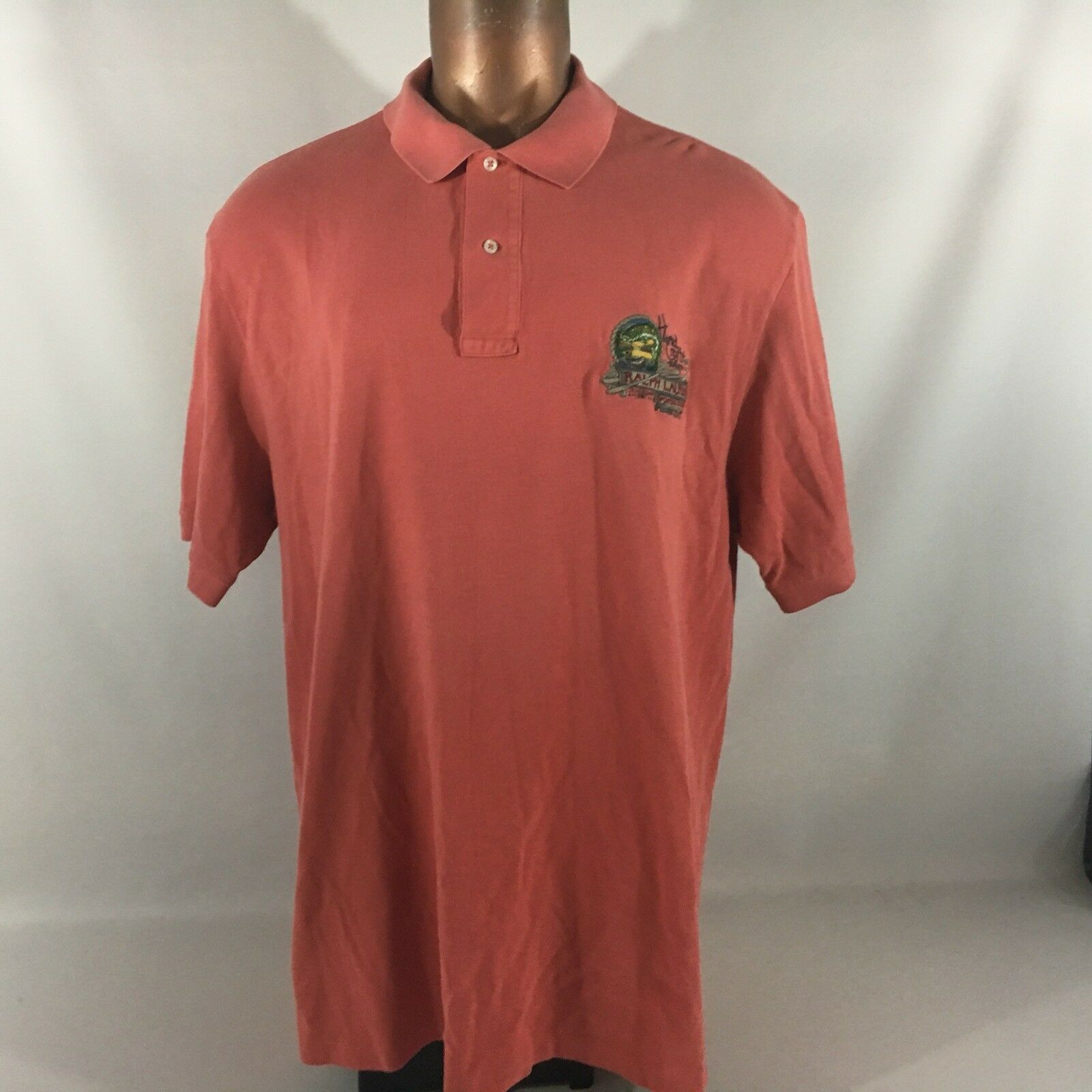 Polo Ralph Lauren Fly Fishing Embroiderouge Coral Cotton manche courte 2XLT Trout