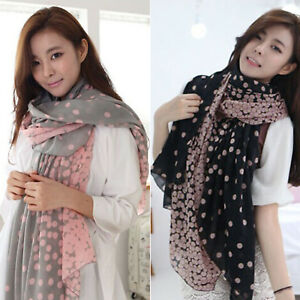 Fashion-Women-039-s-Ladies-Pretty-Long-Soft-Chiffon-Scarf-Wrap-Shawl-Stole-Scarves