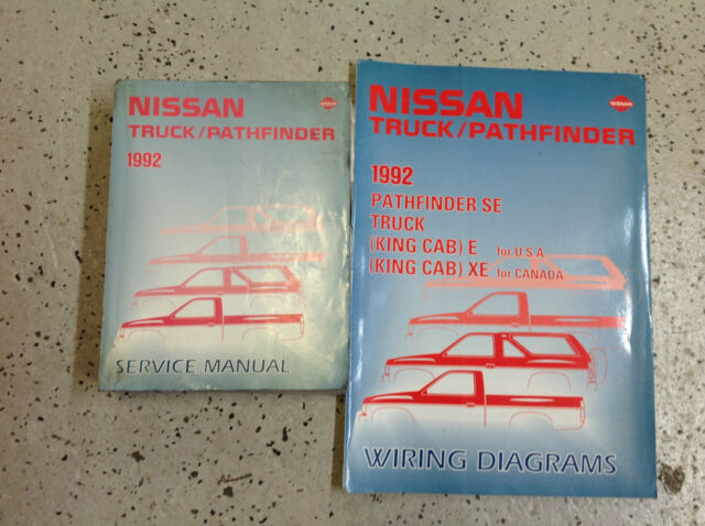 199nissan Truck Pathfinder Service Repair Manual Set Service Manual And The Wiring Diagrams Manual