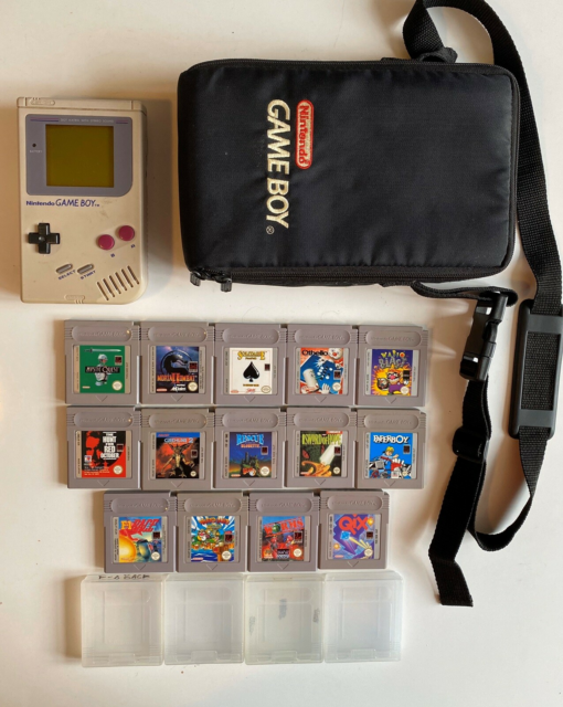 Nintendo Game Boy Classic, Original Gameboy 14 spil og…