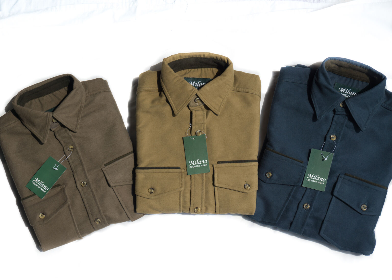 Milano Mens Moleskin Shirt Country, Hunting, Walking, Shooting ,Fishing