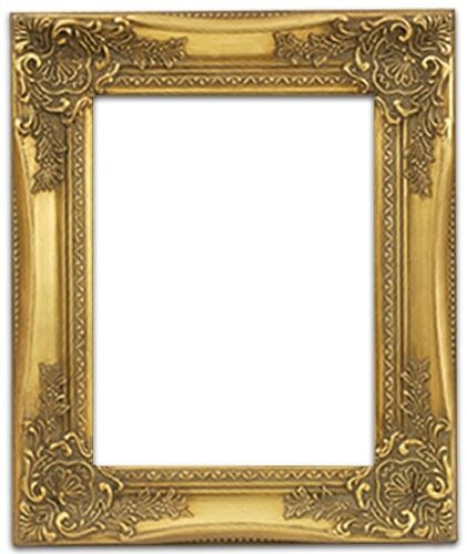 """NEW EUROPEAN CLASSIC PHOTO PICTURE ART PAINTING FRAME WOOD GOLD LEAF 2.5/"""" WIDE"""