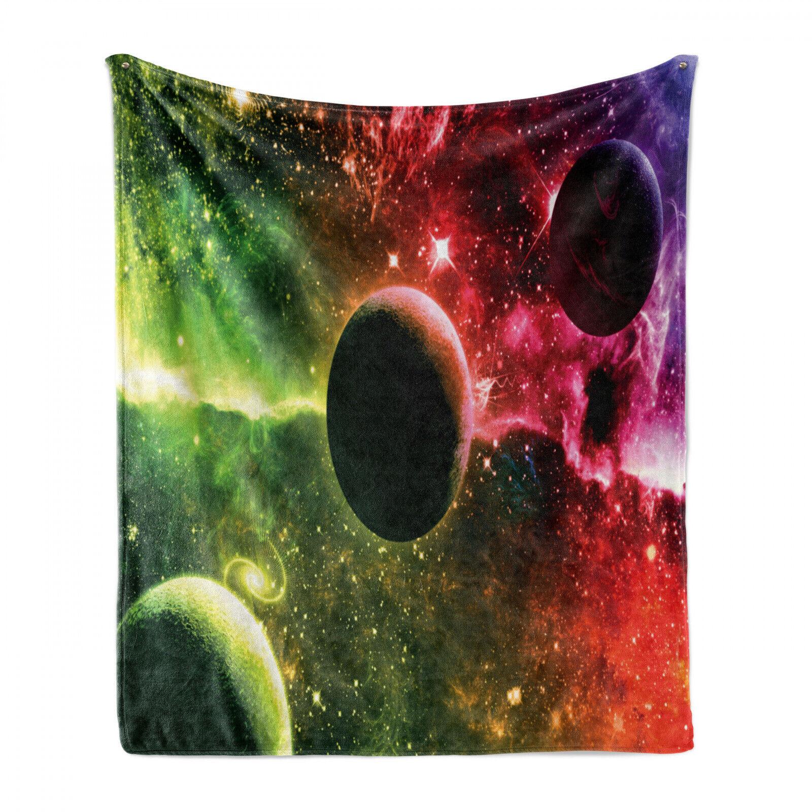 Psychedelisch Weich Flanell Fleece Decke Cosmos Galaxy Nebula