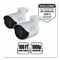 Night Owl Add-on Hd Wired Security Bullet Cameras,1080p - Ngtcam2pkhda10w