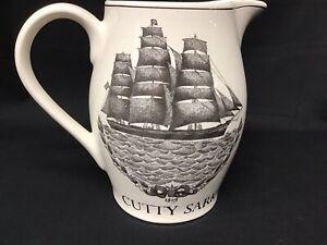 Vintage-CUTTY-SARK-Scotch-Whiskey-Pub-Jug-Liquor-Advertising-Water-Pitcher