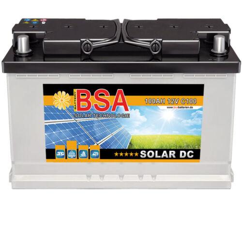 BSA Solarbatterie 100Ah 12V Wohnmobil Versorgungsbatterie Solar Batterie 80AH