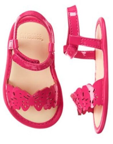 NWT Gymboree Sunset Glow butterfly Crib Shoes Sandals Baby Girl Infant 1,2,3,4