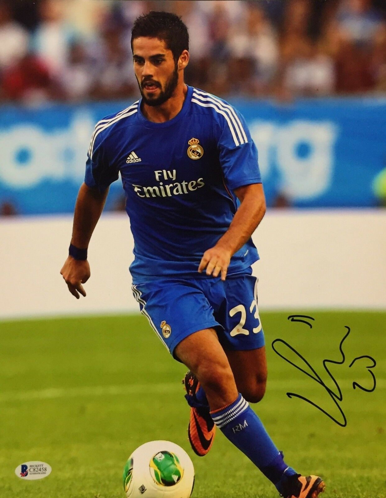Isco Signed Soccer 11x14 Photo *Real Madrid *Spain *Beckett C82458
