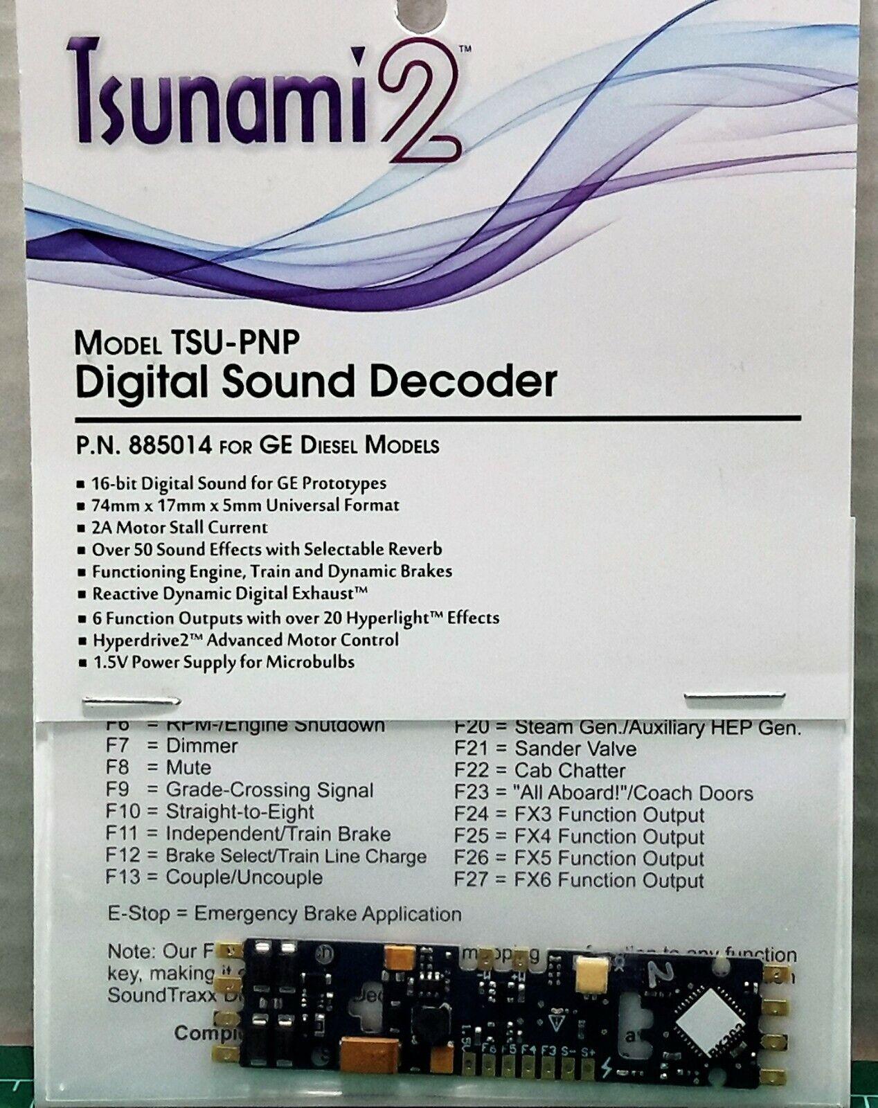 Soundtraxx Tsunami2 TSU-PNP 2amp GE Diesel Engines Item