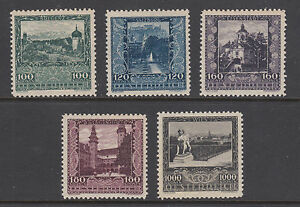 Austria-Sc-B57-B65-MNH-1923-Austrian-Views-5-diff-from-set-VF