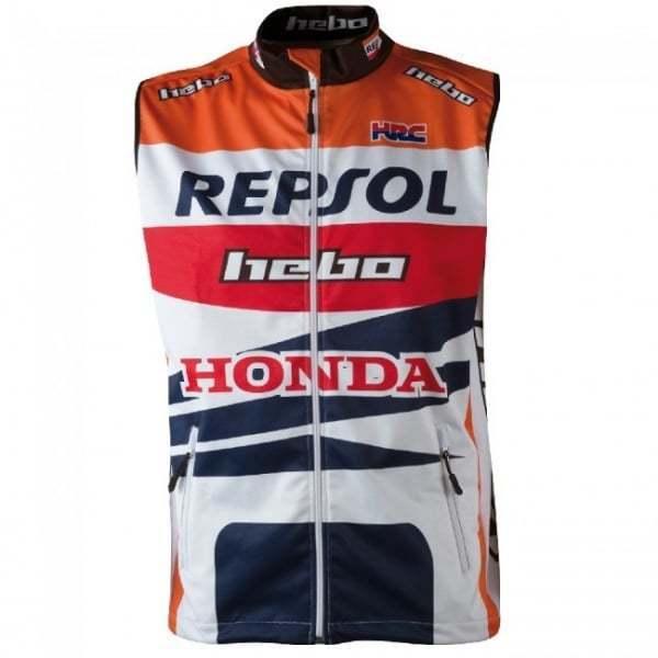 Hebo Montesa Team Repsol Trials Motorcycle Motor Bike Vest - RED  orange