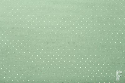 WHITE PIN SPOTS (POLKA DOTS) ON POLY COTTON FABRIC - PASTEL SHADES
