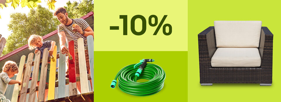 10%-Gutschein* für Gartenfreude – Mach's dir schön - 10%-Gutschein* für Gartenfreude