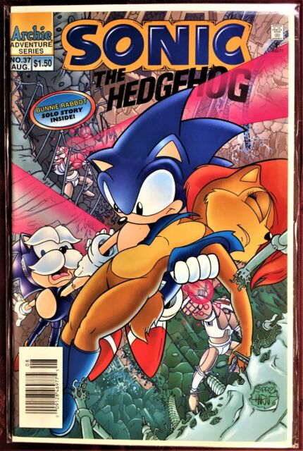 Sonic The Hedgehog Comic Book 37 August 1996 Bunnie Rabbit Bagged Boarded Mint For Sale Online