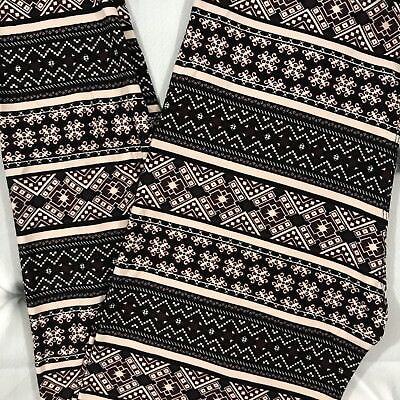 New Mix PLUS Womens High Waisted Super Soft Buttery Leggings Abstract Print OS