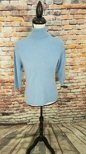 blauw 2 Charter Club 3 4 laags coltrui Euc Sweater S mouw kasjmier pullover Sz 35jq4ARL