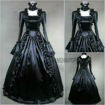 Victorian Lolita Steampunk Long Sleeves Dress Ball Gown Prom cosplay Costume