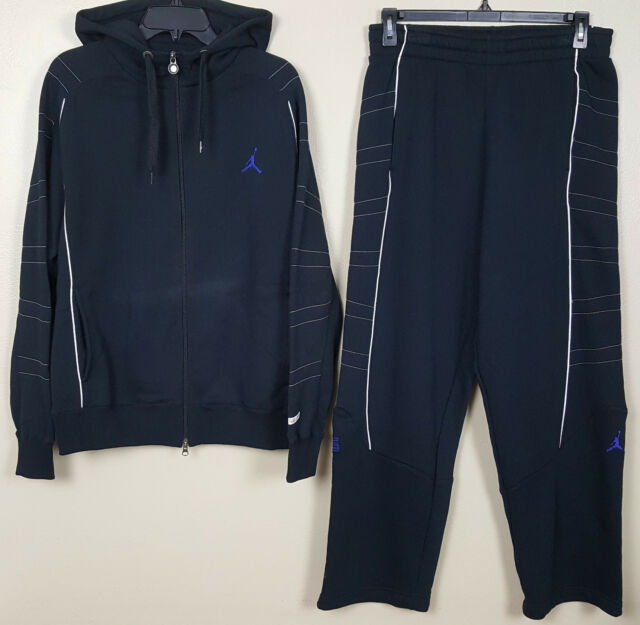 13a9655c9d0 NIKE JORDAN XI 11 RETRO CONCORD SUIT HOODIE + PANTS SPACE JAM BLACK (SIZE  LARGE