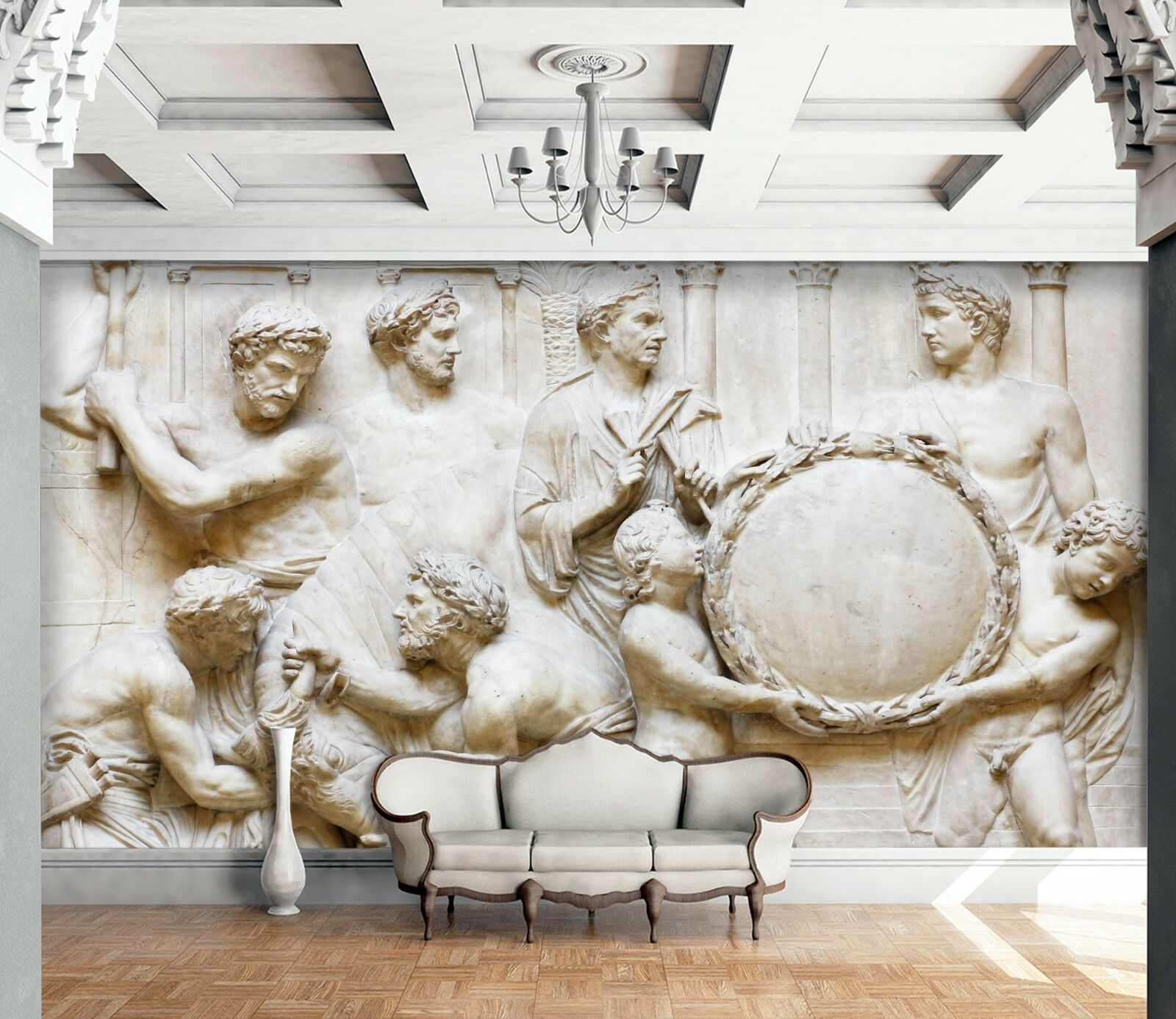 3D Ancient Roman Relief 5 Wall Paper wall Print Decal Wall Deco Indoor Mural