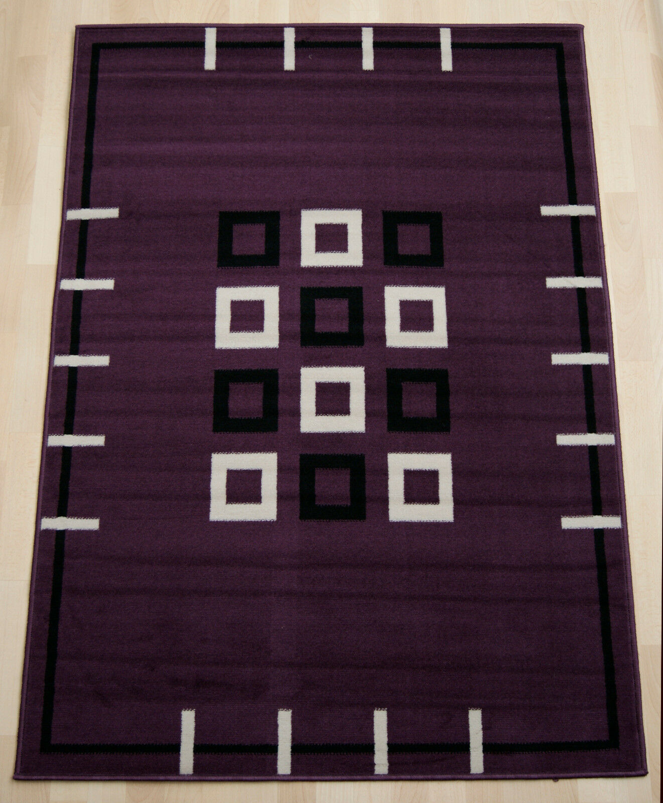 Cheap Cheap Cheap budget Violet Boîtes Moderne Extra Large living Room Bedroom Rug 190x280 cm. 2b425e
