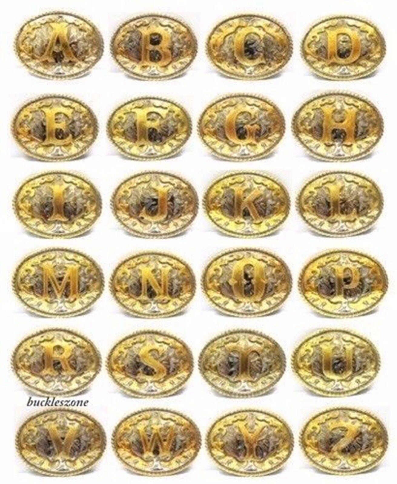 Erste A B C R S T W K L Gürtel Schnallen Alphabet Monogram Brief Texas USA Rodeo