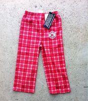 Boston Red Sox Flannel Boys Fleece Christmas Plaid Pajamas Pjs Pants 4 5 6