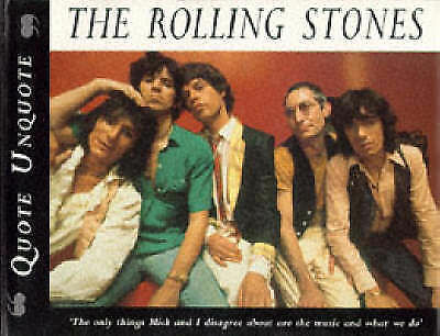 """""""AS NEW"""" The Rolling Stones. Quote Unquote, J Ewing, Book"""