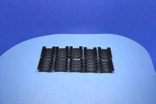 LEGO 10 X Base pierres réfractaire Coque 45 ° invers 4x4 noir 4854 485426