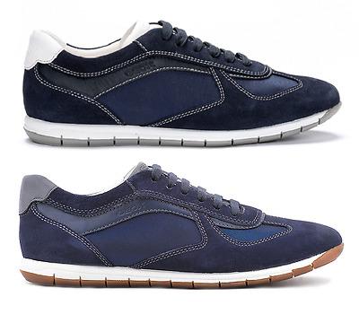 Geox Sneaker Scarpe Da Uomo Blue nuovo In Scatola