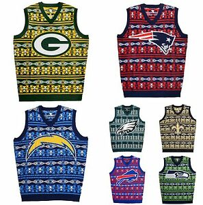 NFL Aztec Print Ugly Sweater Vest, Pick Your Team