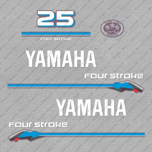 Yamaha 25HP Four Stroke Outboard Engine Decals Sticker Set reproduction 2000
