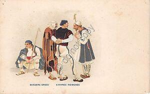 Cartolina-Postcard-Illustrata-Bergers-Grecs-anni-039-10