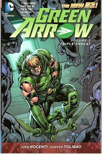 DC-Green-Arrow-Vol-2-Triple-Threat-by-Ann-Nocenti-2013-Paperback