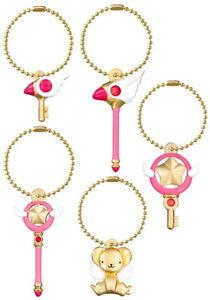 New BANDAI Card Captor Sakura Die Cast Charm Keychain Gashapon Set of 5 Japan