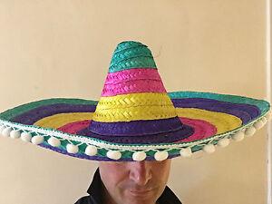 Caricamento dell immagine in corso Grande-Sombrero-Messicano-Cappello -Deluxe-Paglia-Gringo-Costume- ce7a658efd65