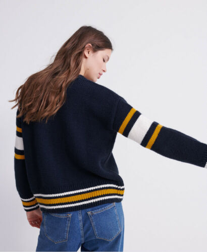 Superdry Womens Intarsia Slouch Knit Jumper
