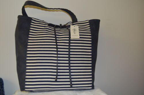 Tote Navy Purse Co Handtasche Style Airyell Stripe Schultertasche 6qHRnSw
