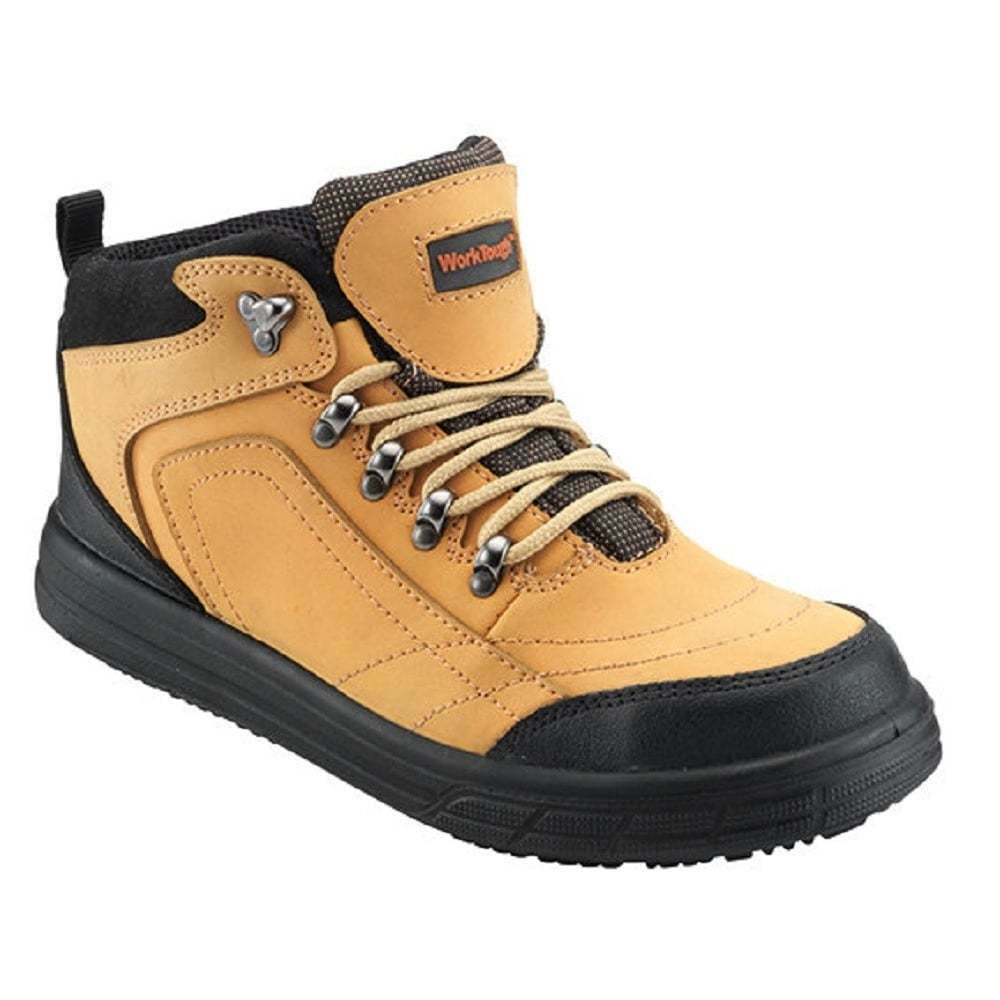 Work TOUGH Steel 77SM Work Boots Nubuck Leather Honey   Steel TOUGH Toe   Lightweight f09440