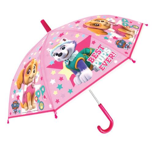 Paw PATROL SKYE Everest ombrello rosa con licenza per bambini POE in rilievo Cuccioli