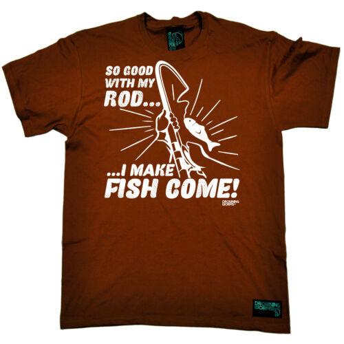 PESCA faccio PESCI provengono Mulinello canna pesca Pesca Sportiva Divertente Compleanno T-shirt