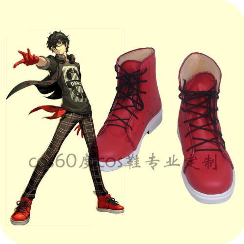 Persona 5 Dancing Star Night Joker Protagonist Akira Kurusu Cosplay Shoes Boots