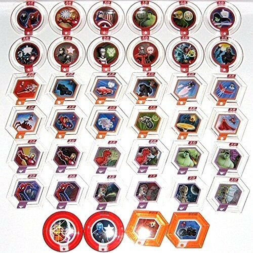 Disney Infinity 2.0 Power Disc Marvel Complete UR Set 3.0 Compatible $5minimum