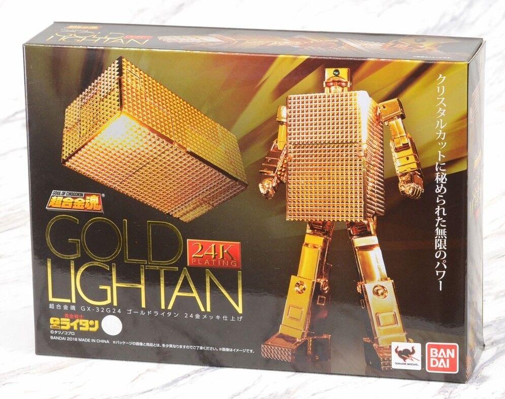 Gx-1.1oz24 Soul of Chogokin gold Lightan 24 Plated Finish Bandai Bandai Bandai Tamashii Soc af9348