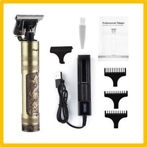 Tondeuse-Cheveux-Barbe-Moustache-Electrique-Rechargeable-Sans-Fil-USB-Homme-Pro