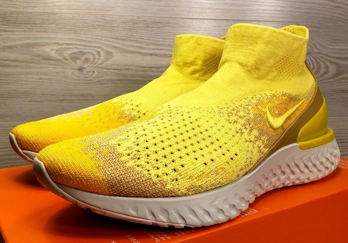 Nike Rise React Flyknit LMTD Sonic Yellow Running Training BQ6176 707  Pick Size